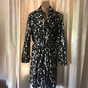 Dana Buchman Leopard Print Trench Jacket S